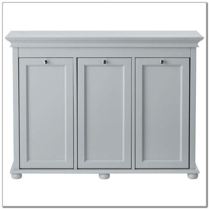 Triple Tilt Out Hamper Cabinet