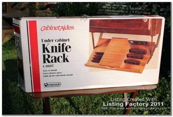Under Cabinet Knife Rack Amerock