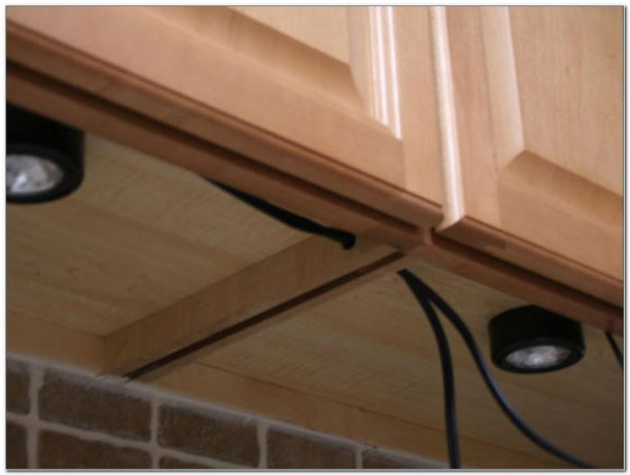 Under Cabinet Puck Lighting Installation