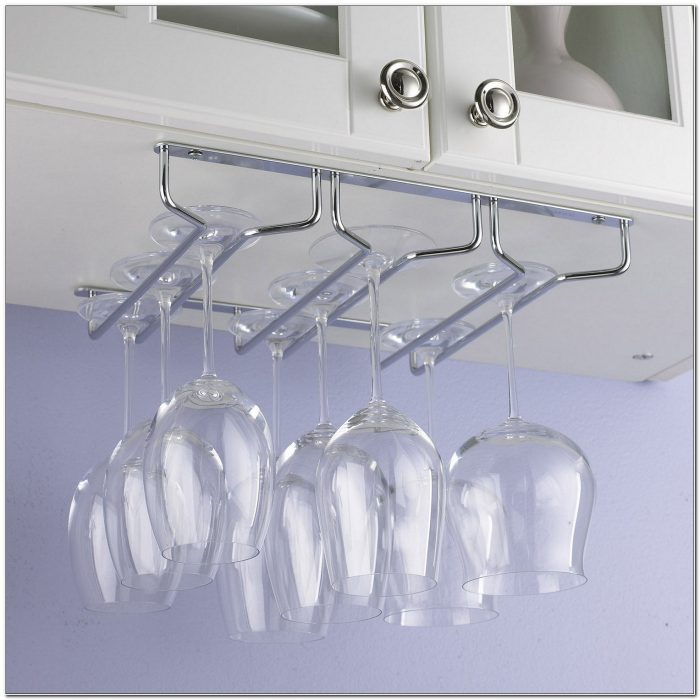 Under Counter Wine Rack With Stemware Holder