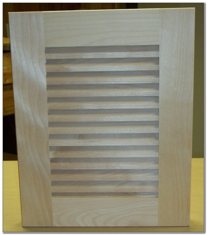 Unfinished Louvered Cabinet Doors