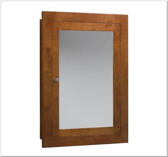 Unfinished Wood Framed Recessed Medicine Cabinet