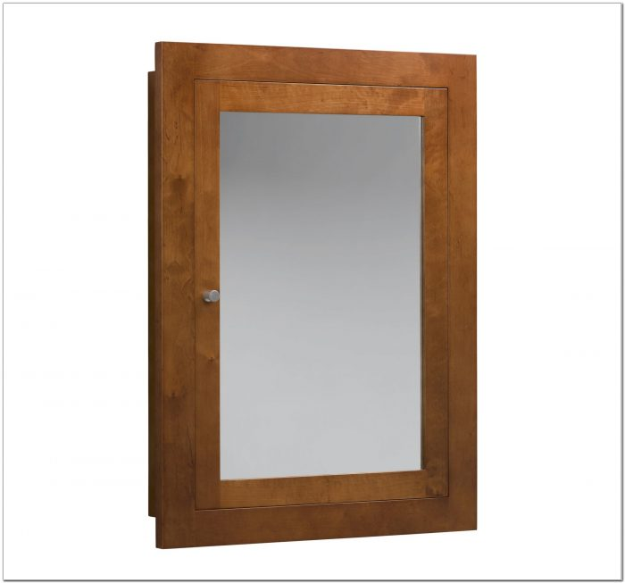 Unfinished Wood Medicine Cabinet Recessed