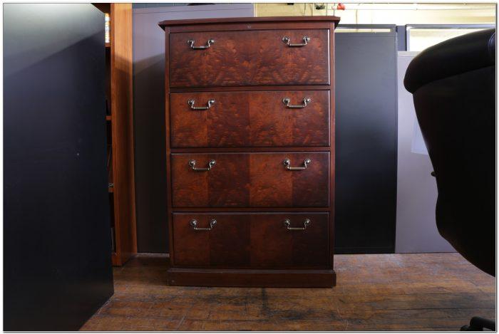 Used Black 4 Drawer File Cabinets