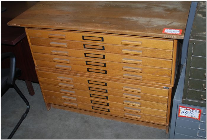Used Drafting Flat File Cabinet