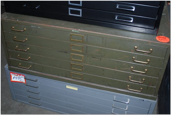 Used Flat File Cabinet Dallas