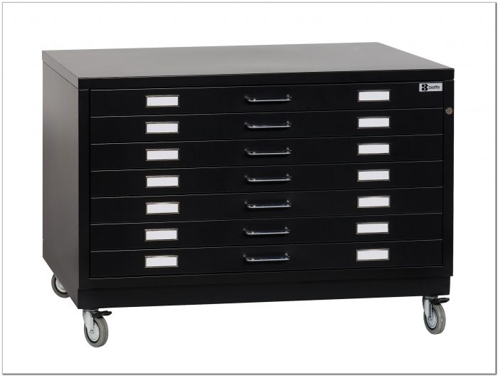 Used Metal Flat File Cabinet