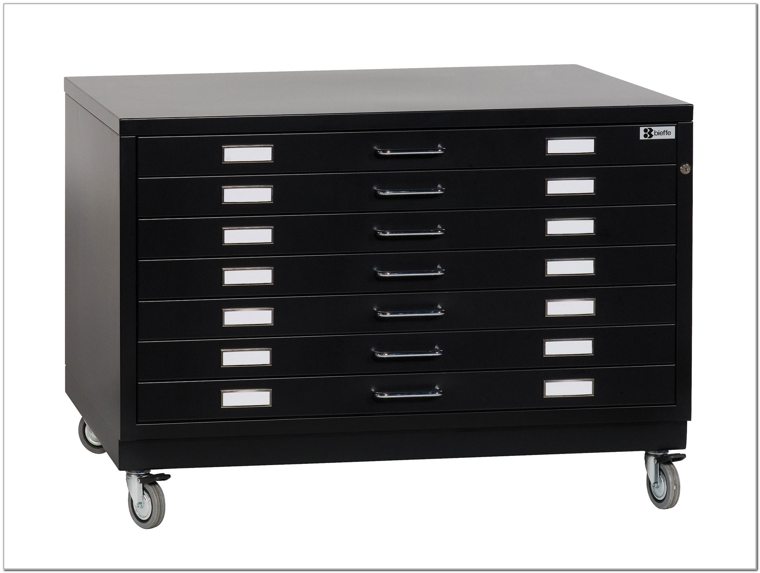 Used Metal Flat File Cabinet