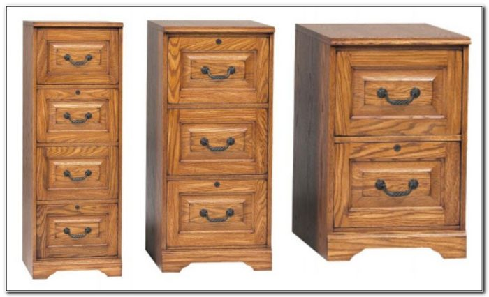 Used Wood Filing Cabinet 4 Drawer