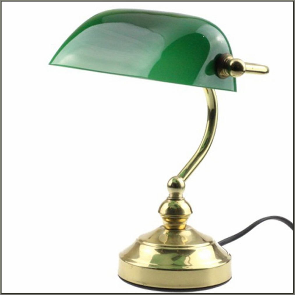 Antique Bankers Desk Lamp