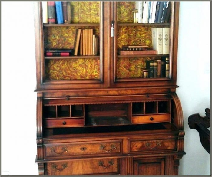 Antique Cherry Secretary Desk With Hutch