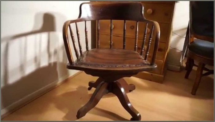 Antique Oak Swivel Desk Chair