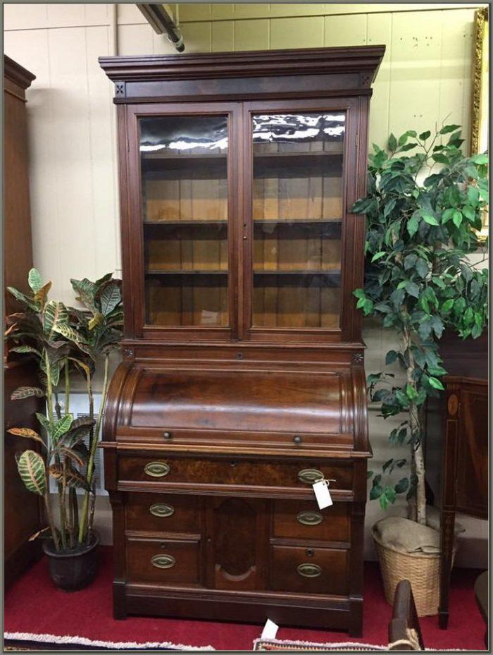 Antique Roll Top Secretary Desk