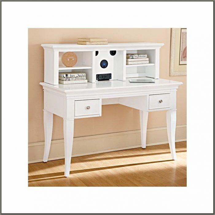 Antique White Desk With Hutch