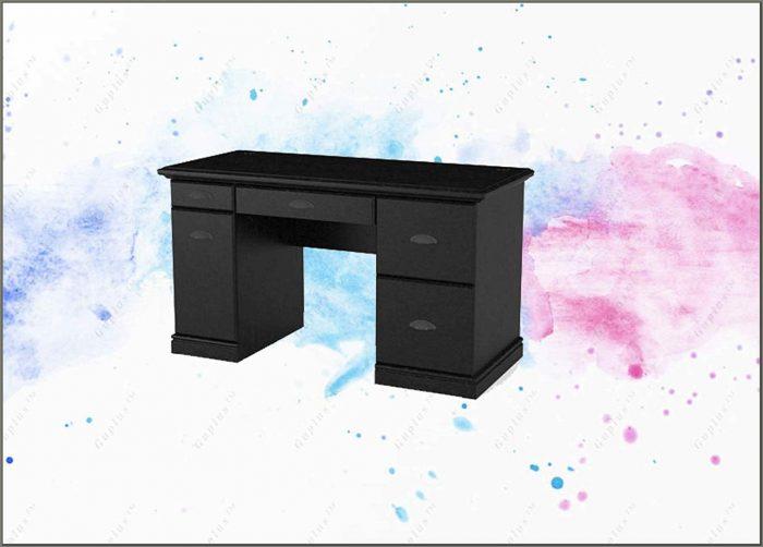 Black Ash Computer Desk