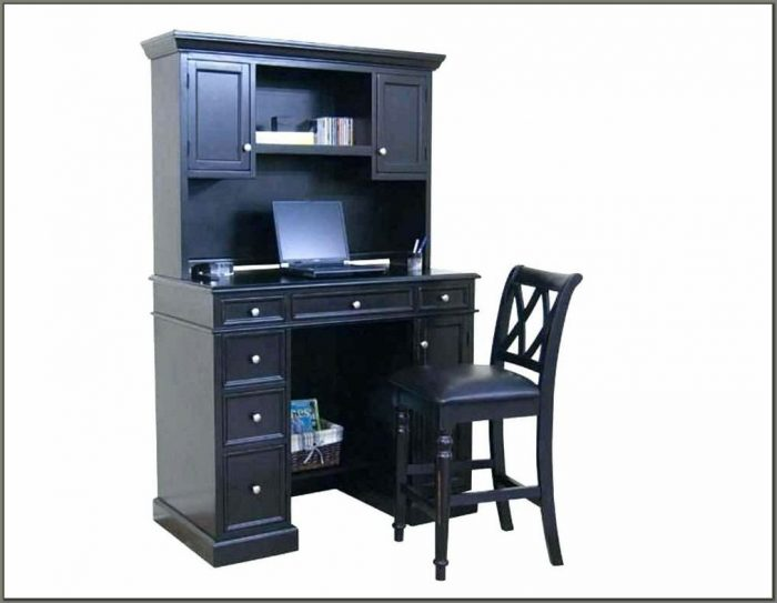 Black Computer Desk With Hutch