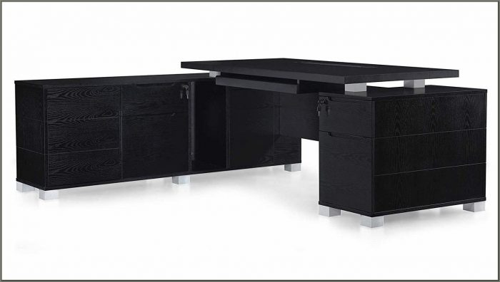 Black L Shaped Executive Desk