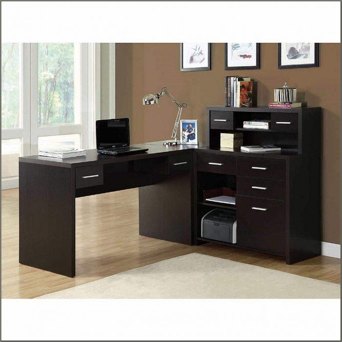Blake L Shaped Corner Desk Cappuccino