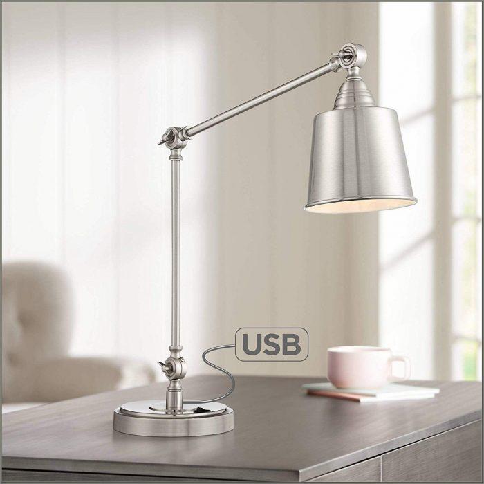 Brushed Nickel Desk Lamp