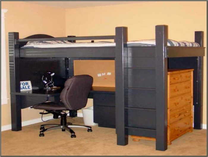 Bunk Bed And Desk Combo