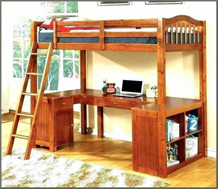 Bunk Bed With A Desk Under