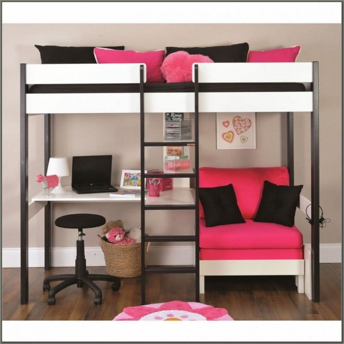 Bunk Bed With Desk And Couch