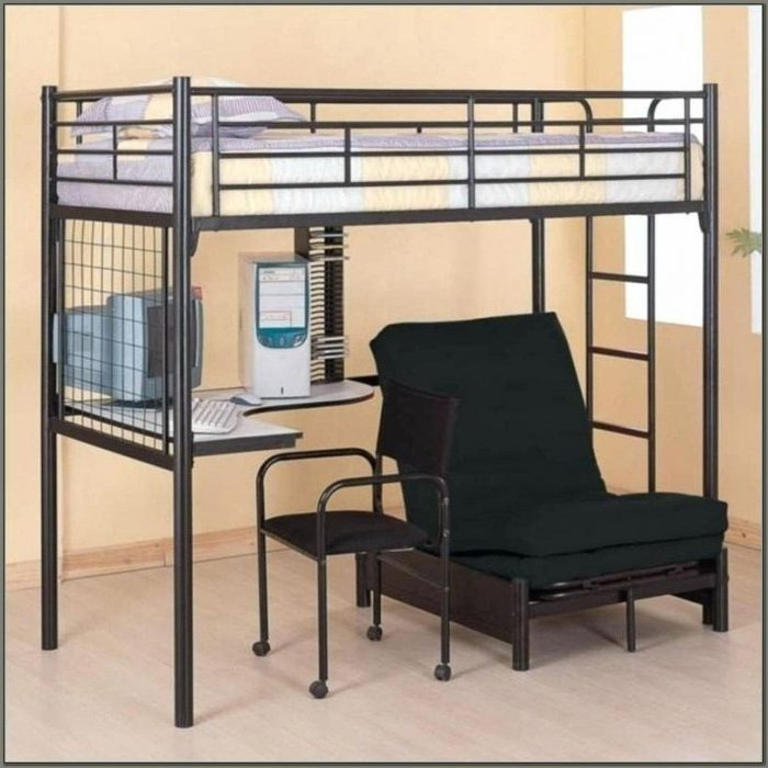 Bunk Bed With Desk And Couch Underneath
