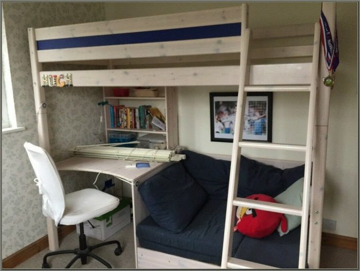 Bunk Bed With Desk And Sofa Underneath