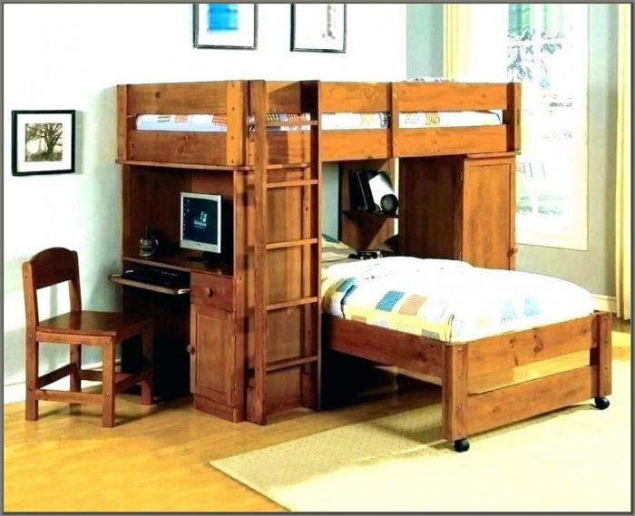 Bunk Bed With Desk For Girls