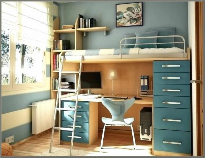 Bunk Bed With Two Desks