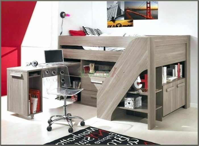 Bunk Beds With A Desk And Stairs