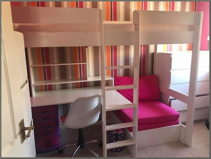 Bunk Beds With Desk And Sofa Underneath