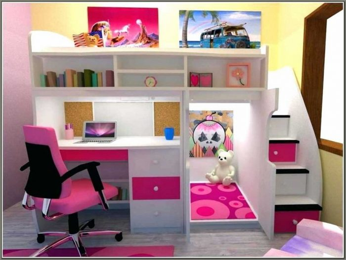 Bunk Beds With Desk Underneath For Girls