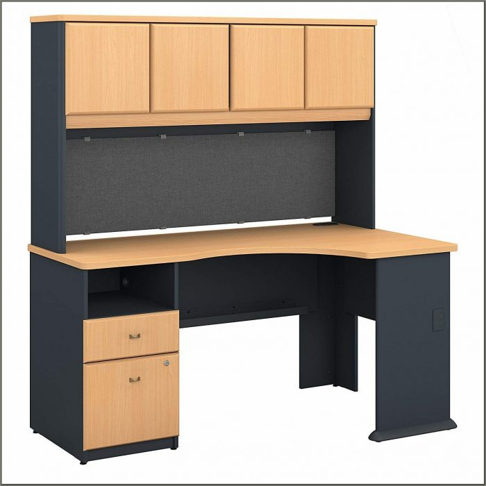 Bush Corner Desk With Hutch
