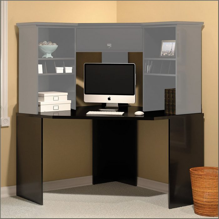 Bush Stockport Corner Computer Desk Black