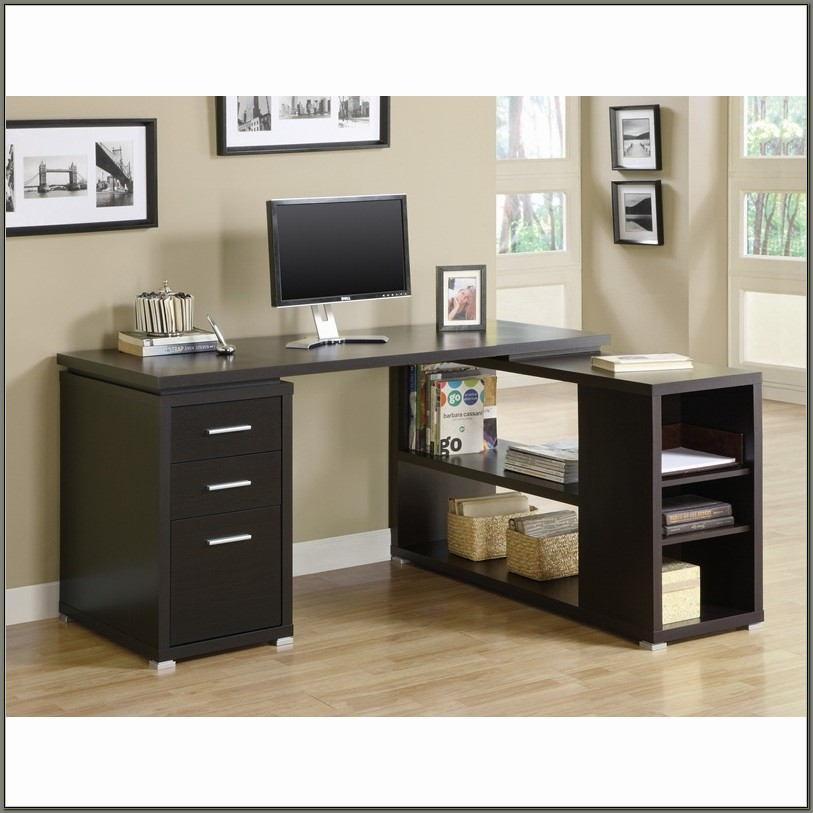 Cappuccino L Shaped Desk