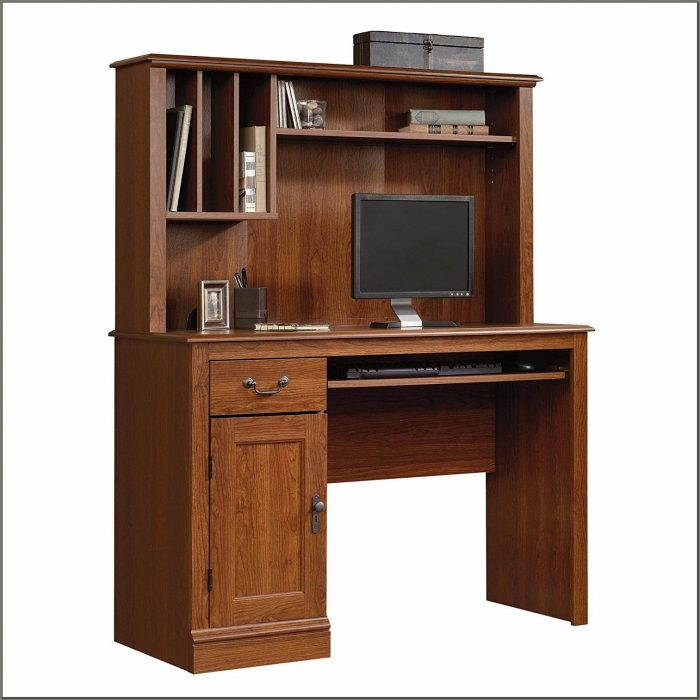 Cherry Computer Desk With Hutch