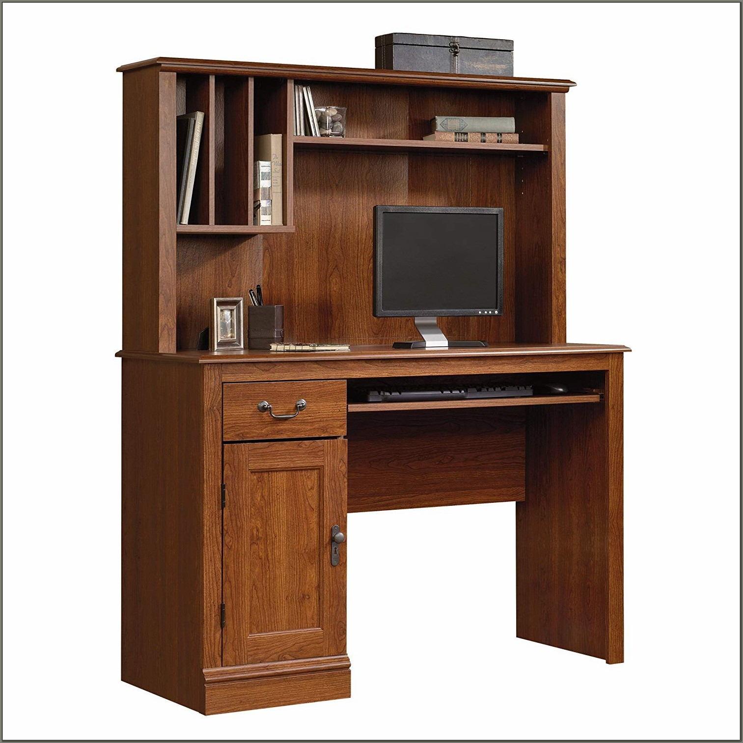 Cherry Computer Desk With Hutch