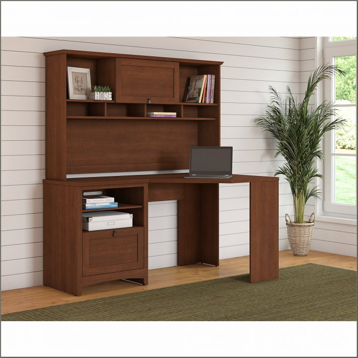 Cherry Corner Desk With Hutch