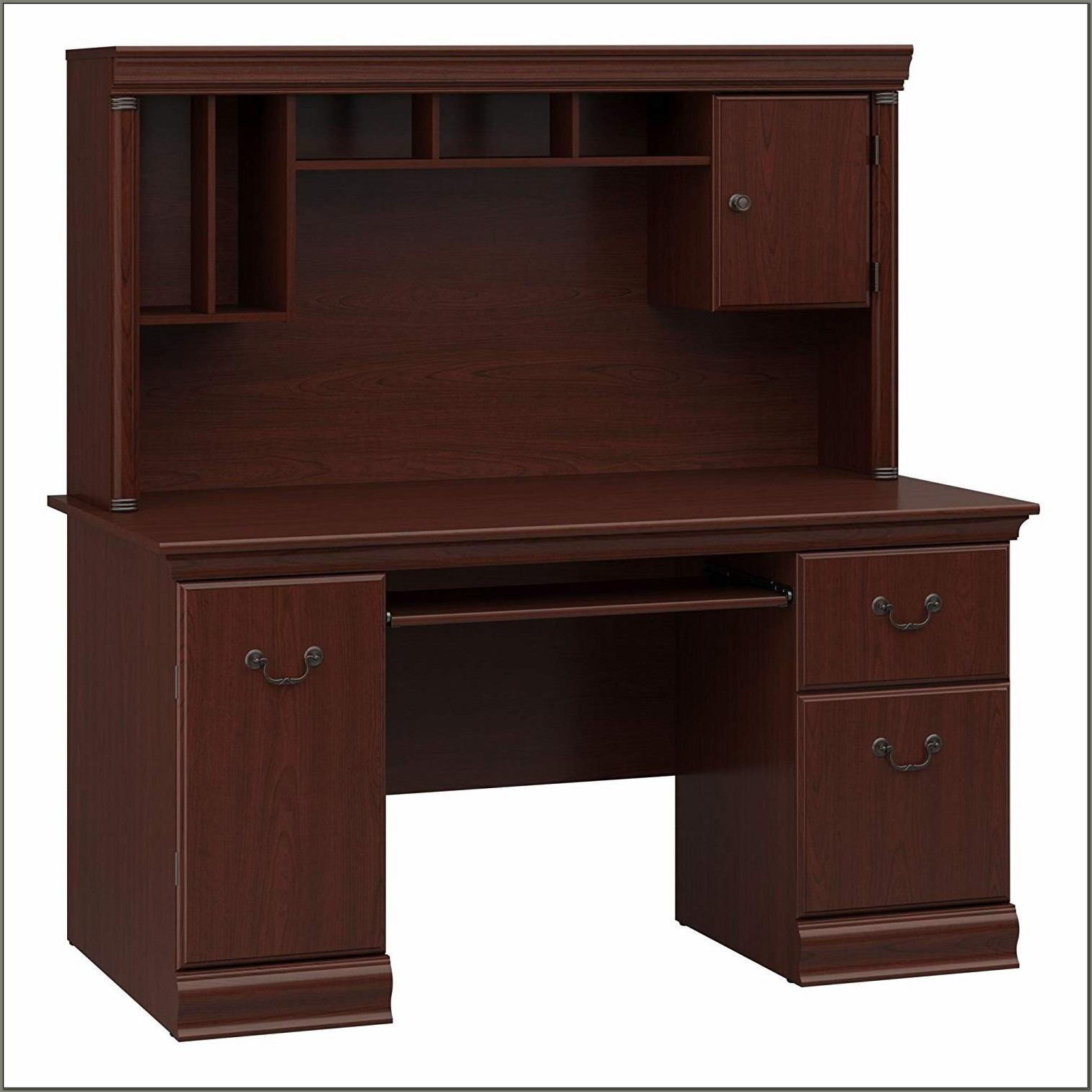 Cherry Desk With Hutch