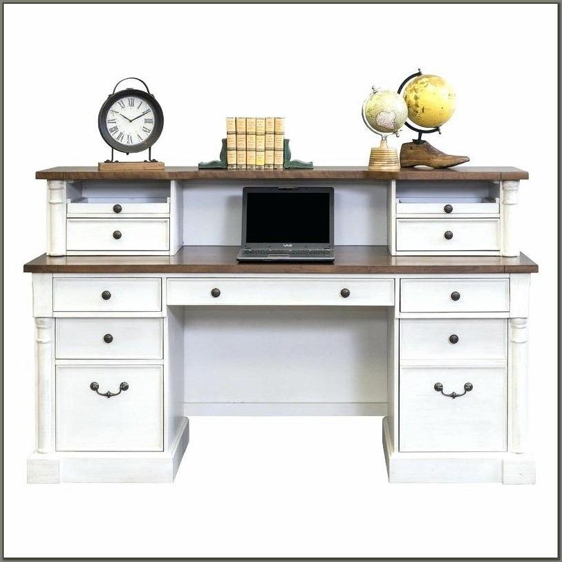 Cherry Secretary Desk With Hutch