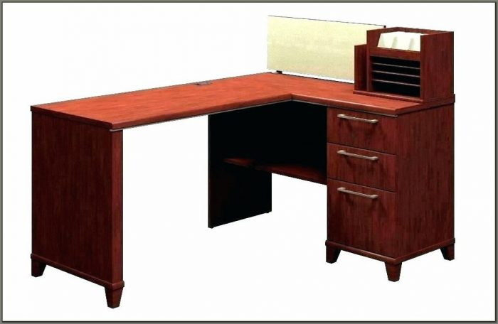 Cherry Wood Computer Desk With Hutch