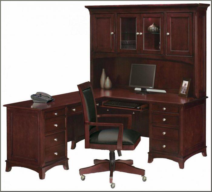 Cherry Wood Corner Desk
