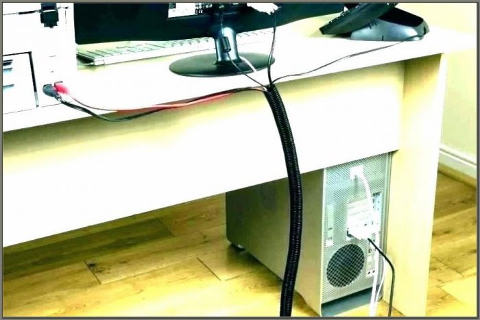 Computer Cable Organizer For Desk