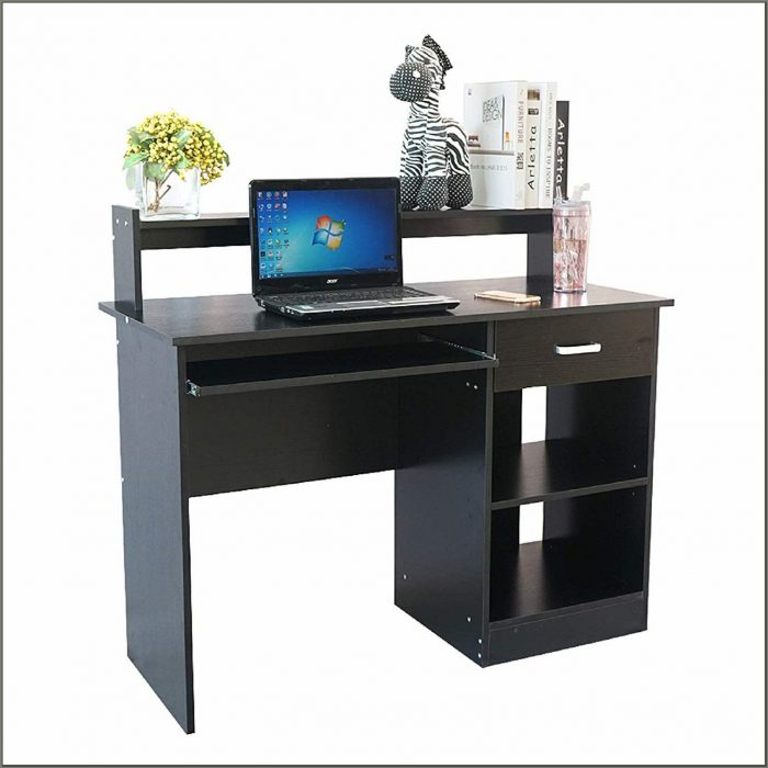 Computer Corner Desk With Hutch