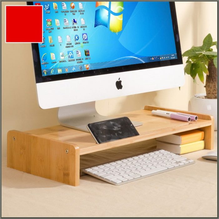 Computer Desk With Monitor Stand