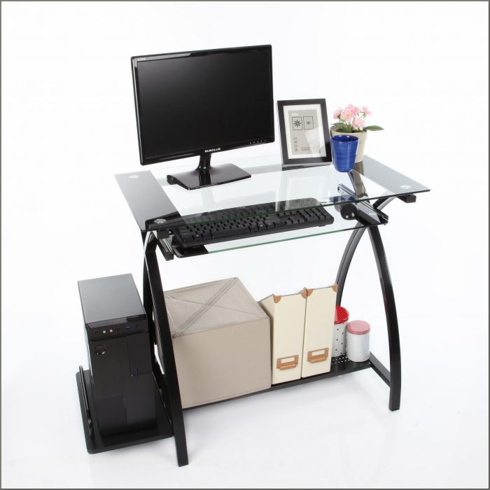 Computer Desk With Pullout Keyboard Tray