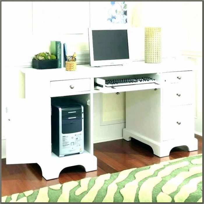 Corner Computer Desk With Keyboard Tray