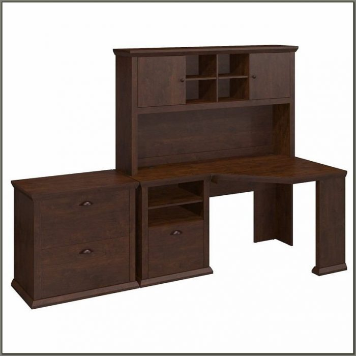 Corner Writing Desk With Hutch