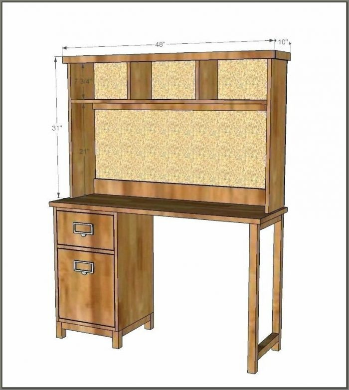 Deluxe Solid Wood Desk With Hutch White